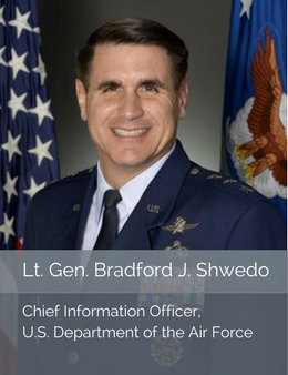 Official head shot of Lt. Gen. Bradford Shwedo, Chief Information Officer of the Department of the Air Force