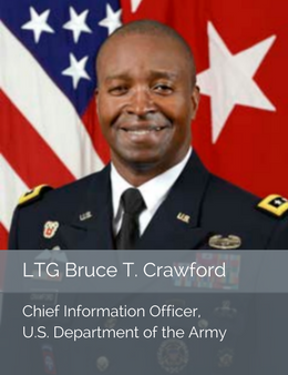 Official head shot of LTG Bruce T. Crawford, Chief Information Office of the U.S. Department of the Army