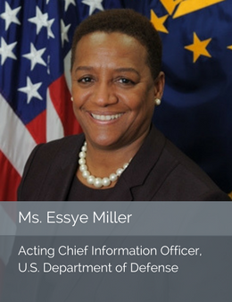 Official head shot of Ms. Essye Miller, Acting Chief Information Officer of the U.S. Department of Defense