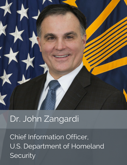 Official head shot of Dr. John Zangardi, Chief Information Officer of the U.S. Department of Homeland Security
