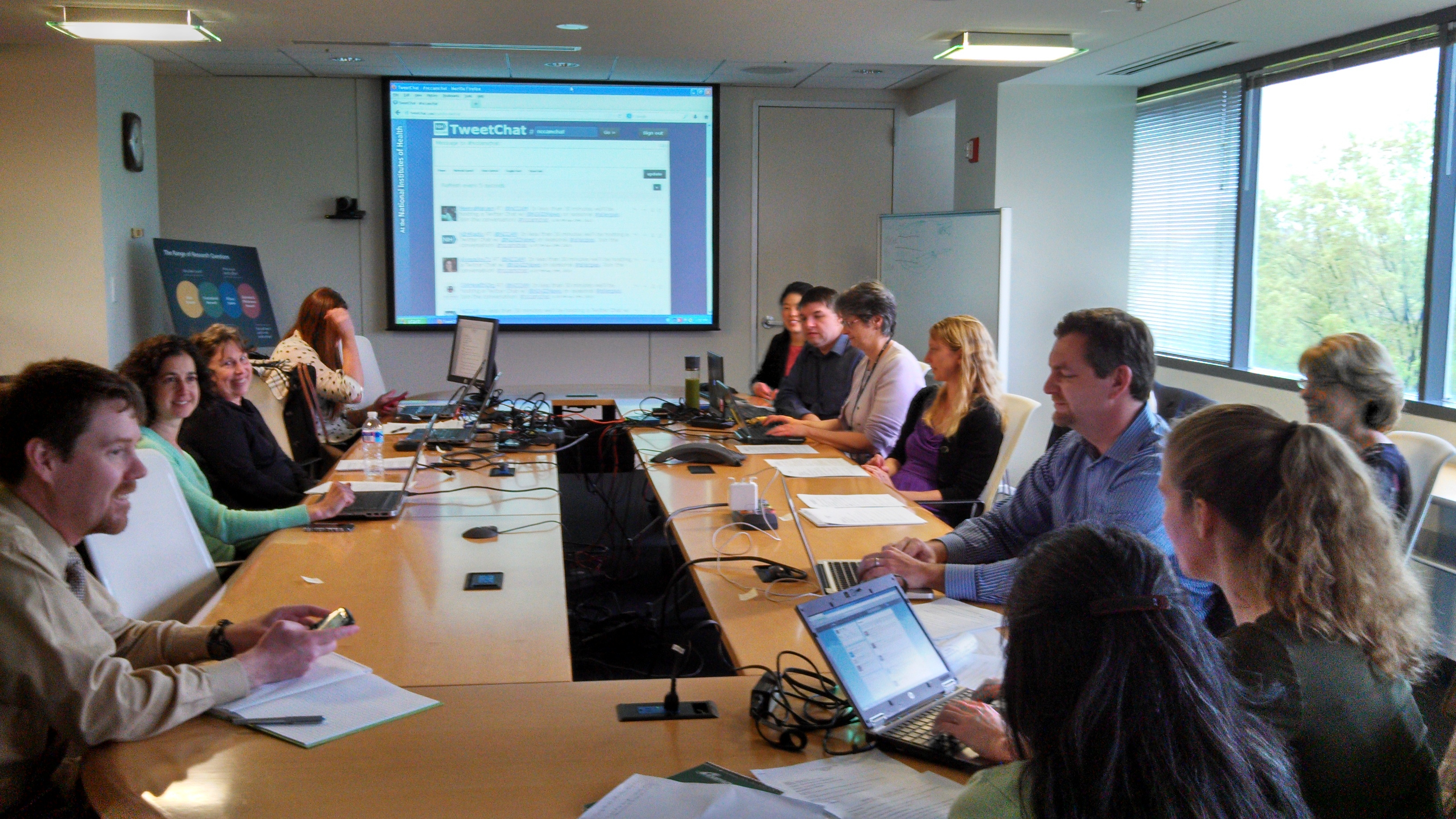 Nih twitter chats collaborations multiply successes for 10 person conference table