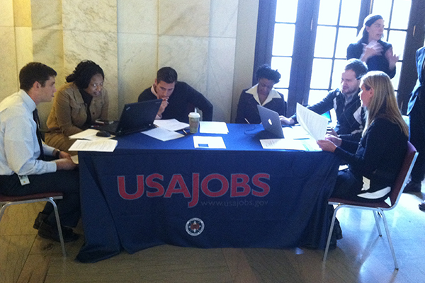 A usability hallway test for USAJOBS in 2014.