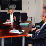 IWR Director Pietrowsky and Director-General Koïchiro Matsuura engage in a discussion concerning the Agreement