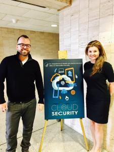 FedRAMP Director Matt Goodrich and FedRAMP Evangelist Ashley Mahan at HHS Security Day