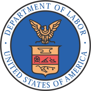 Logo for U.S. Department of Labor (DOL)