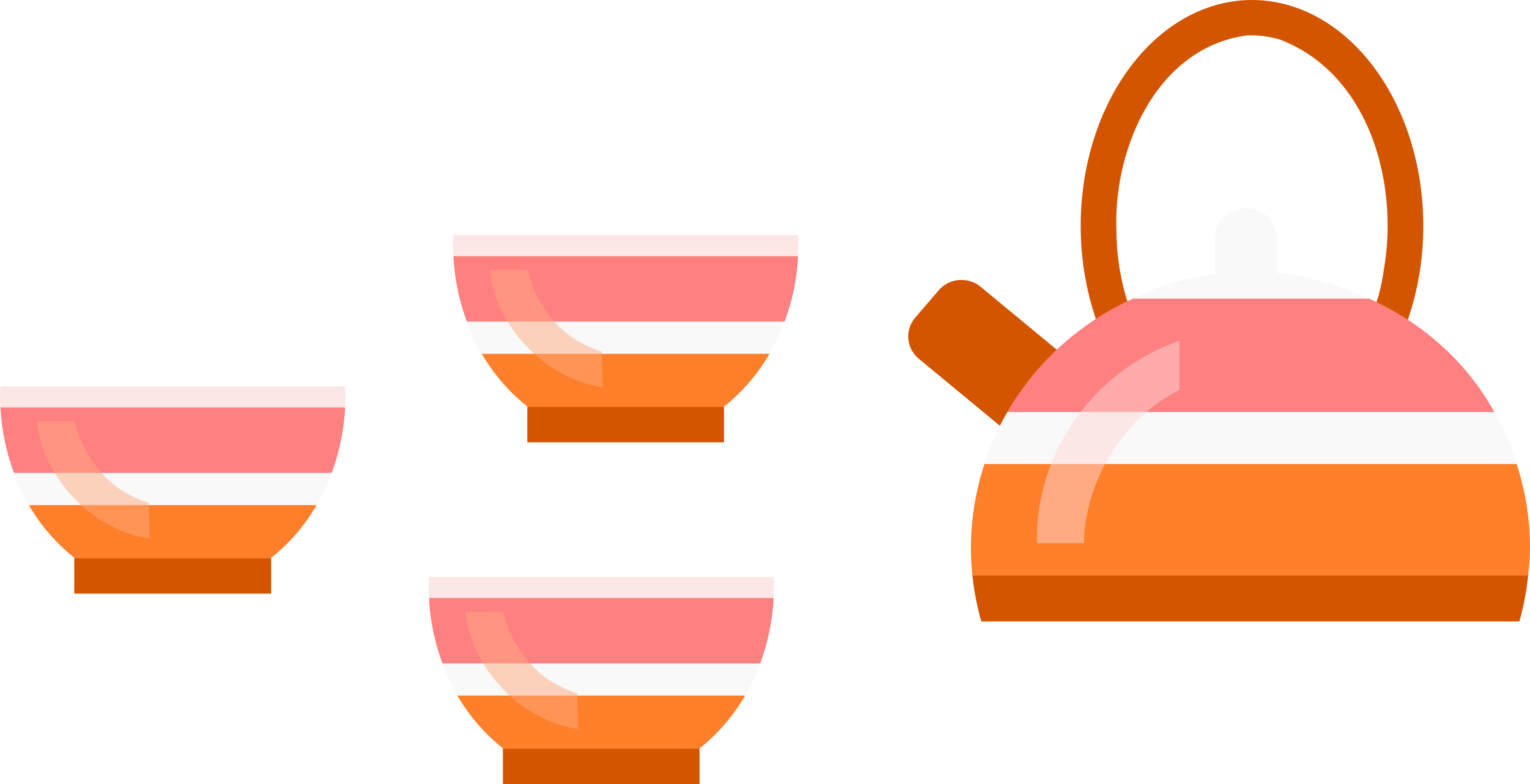 Image of Teapot and Cups