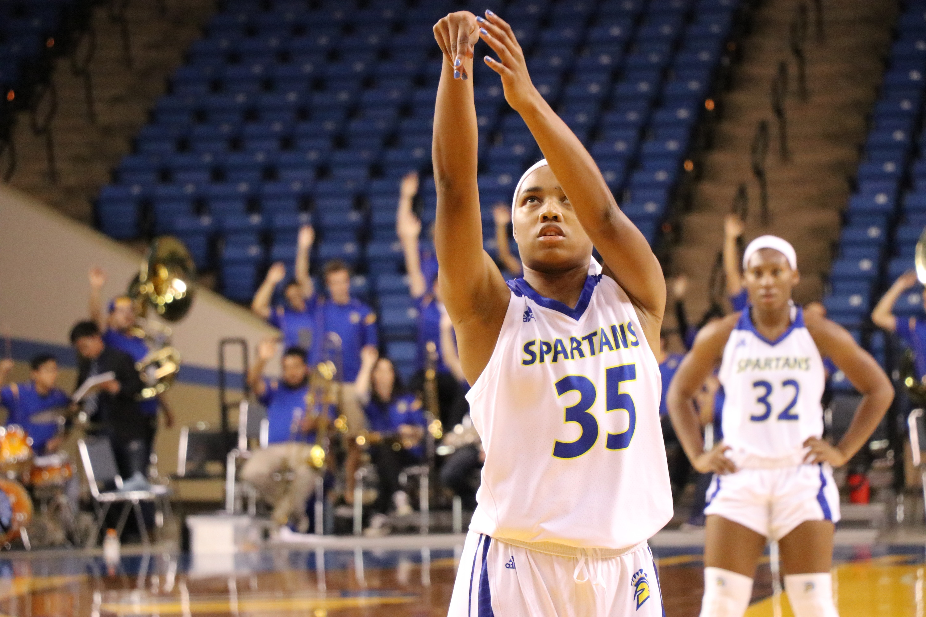 Cydni Lewis had six rebounds and five points in her Spartans debut