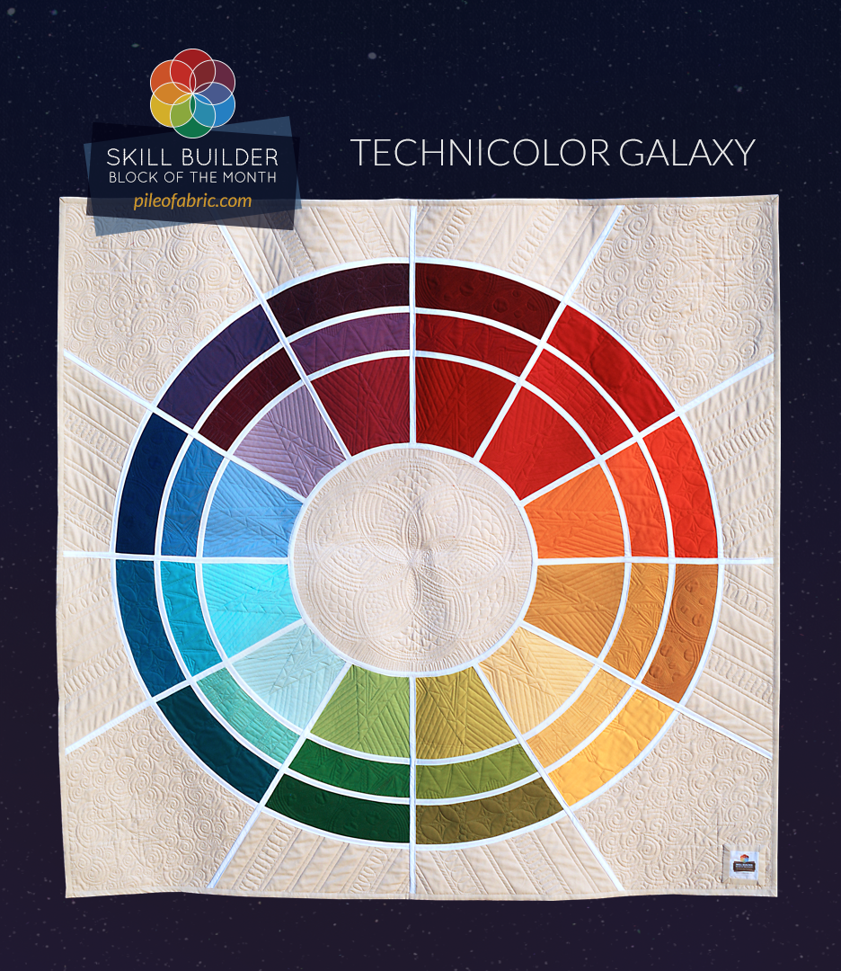 Technicolor Galaxy Quilt by PileOFabric.com