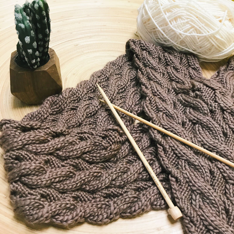 Cable Scarf Knitting