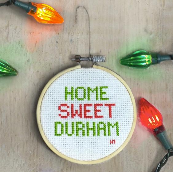 Cross-Stitched Ornaments