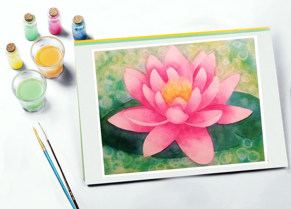 Monet Watercolor Lilies