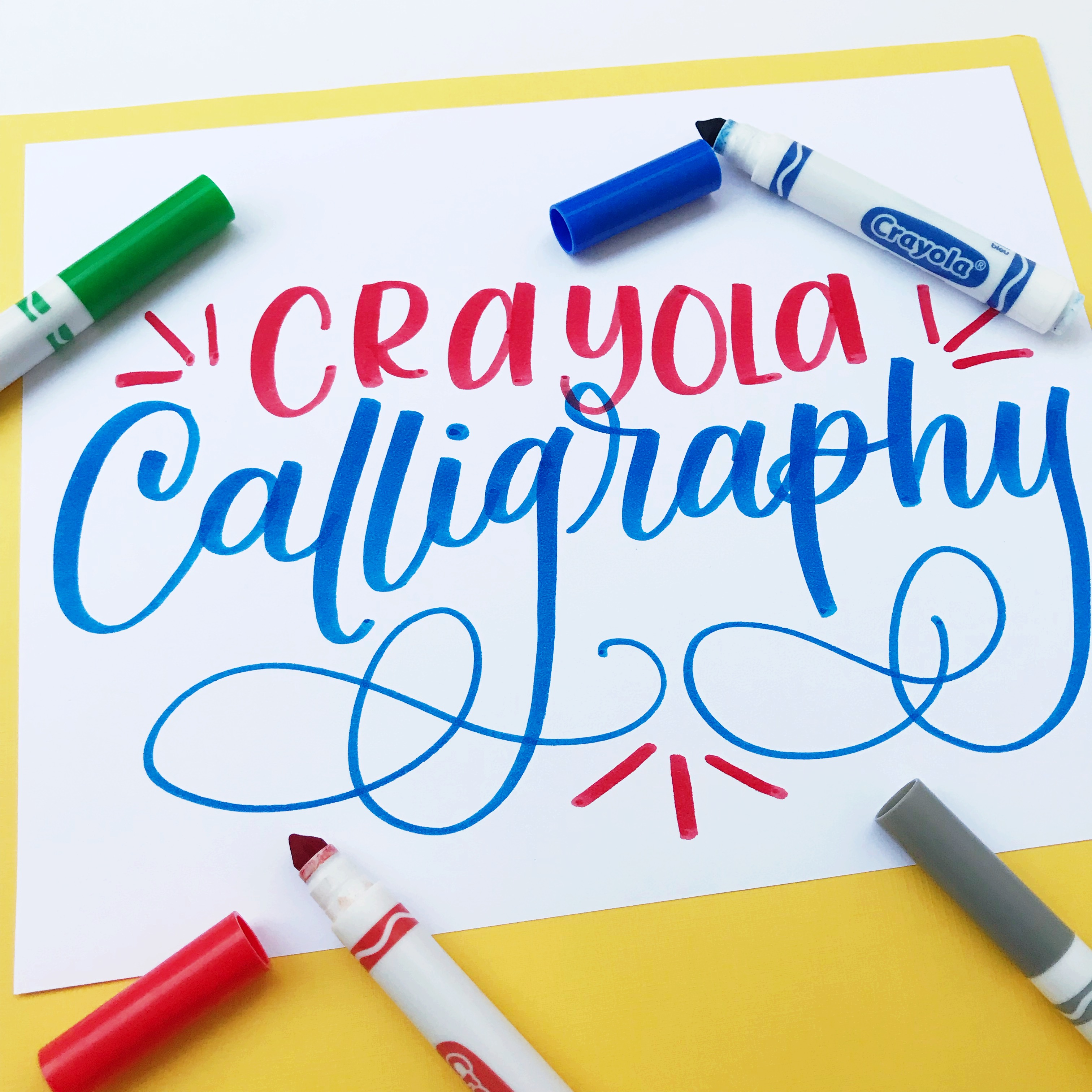 Crayola Calligraphy for Beginners