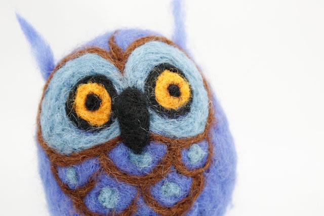Needle Felted Owls