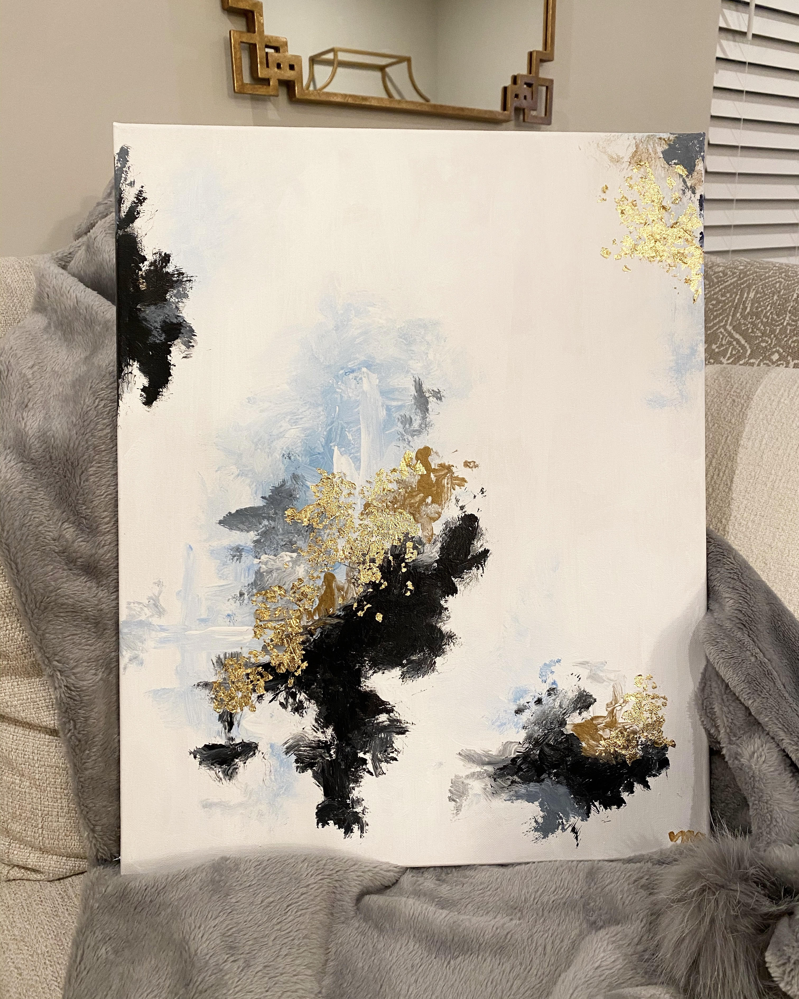 Gold Leaf Abstract Art