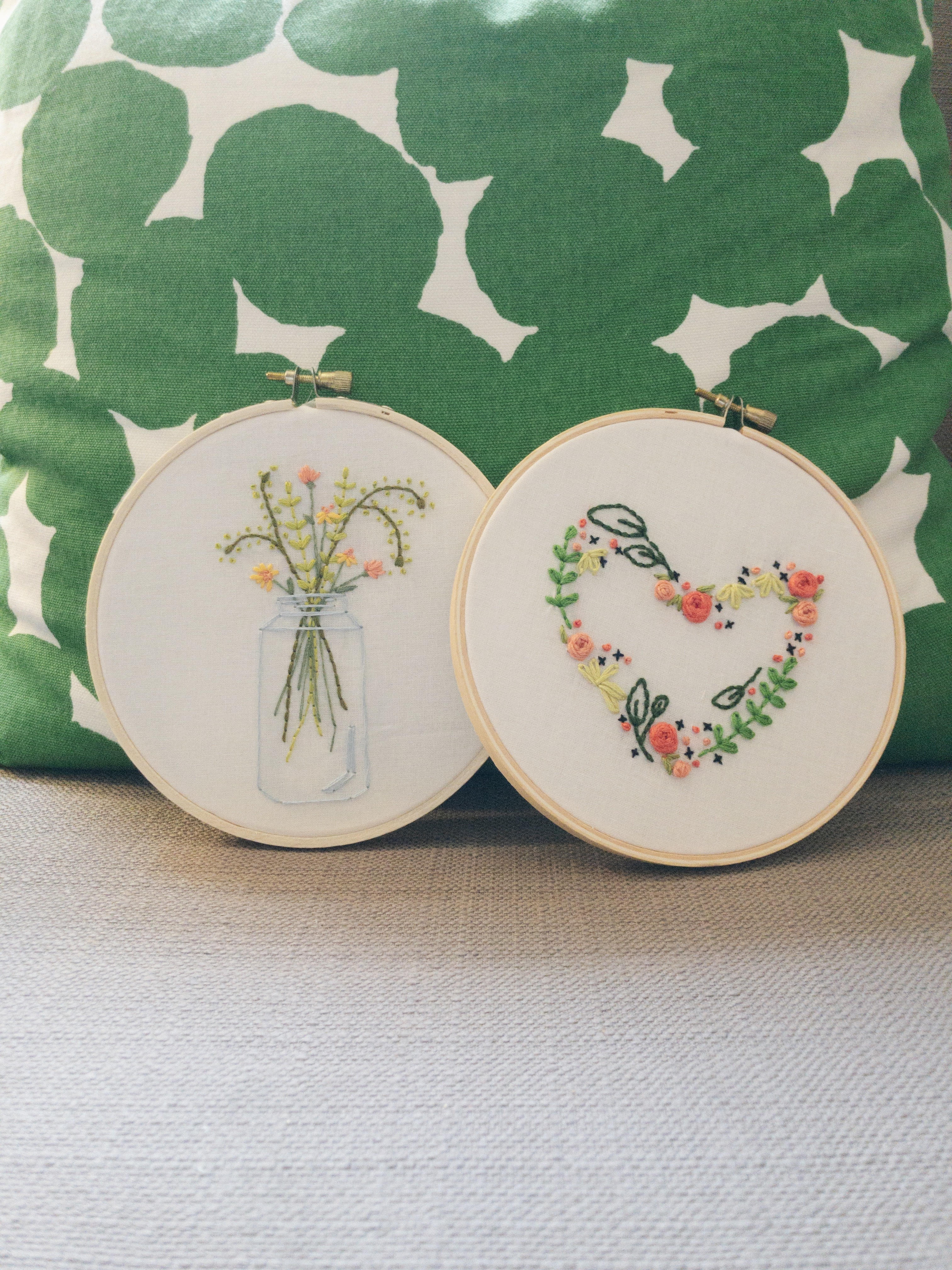 Hand Embroidered Florals