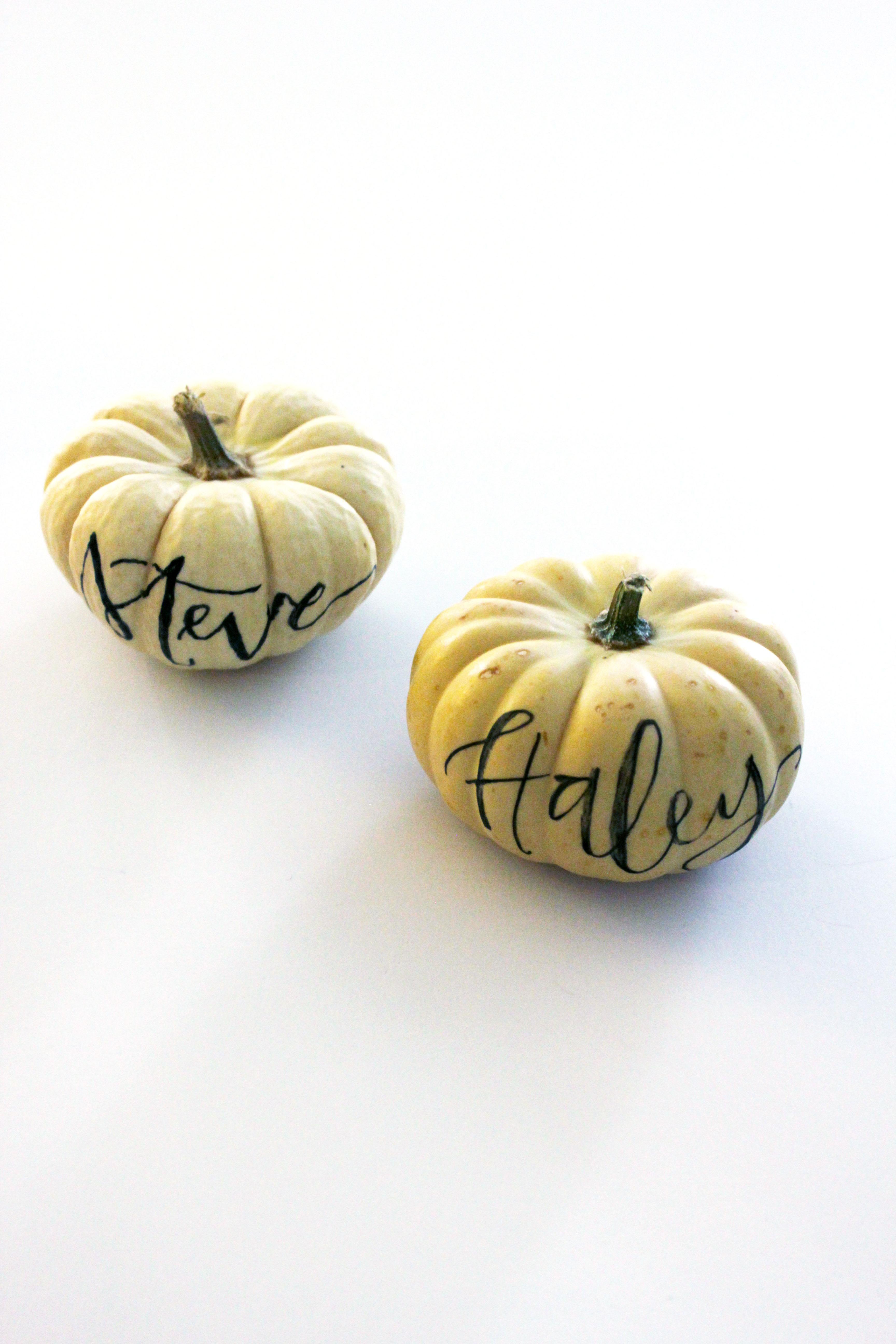 Handlettered Mini-Pumpkins
