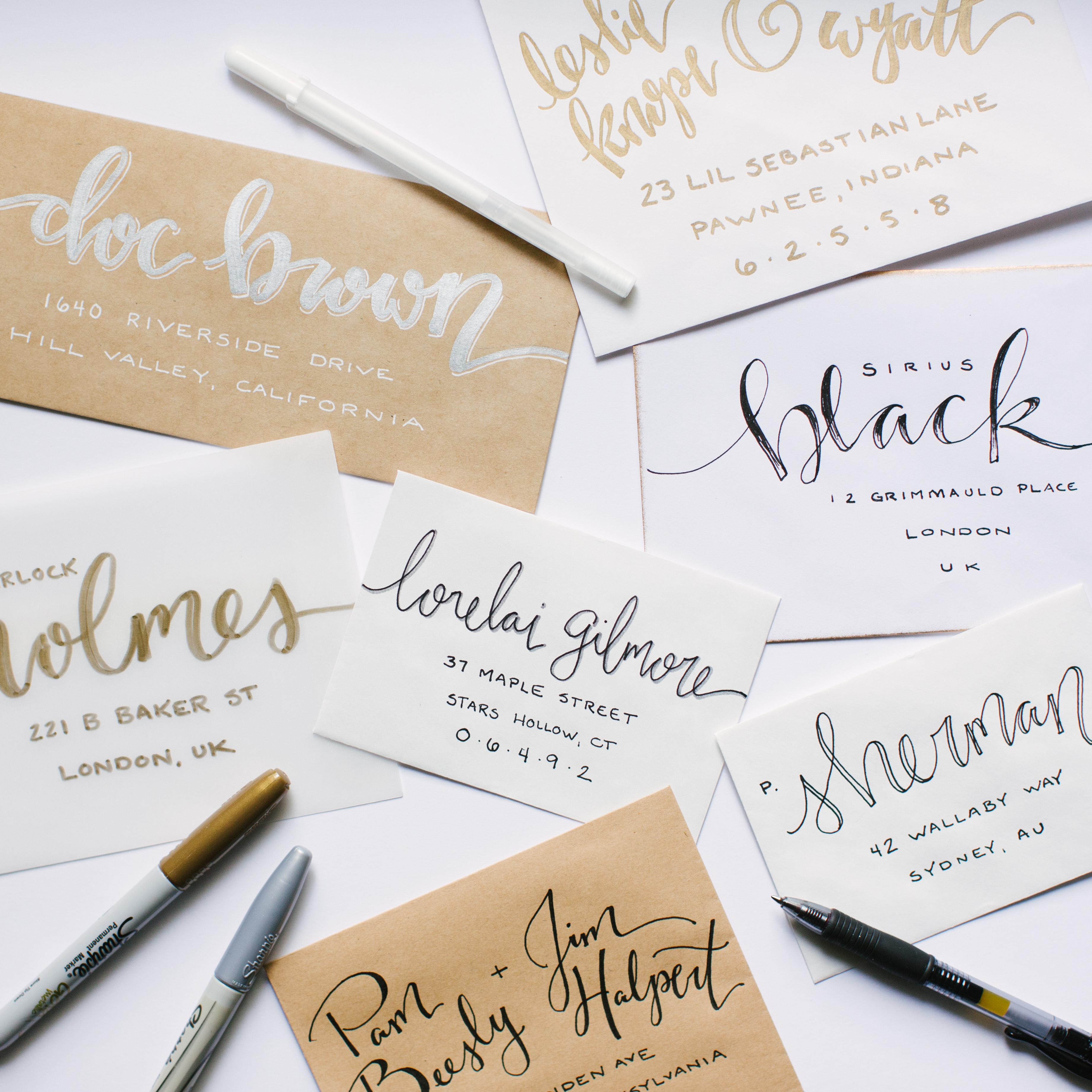 Whimsical Envelope Lettering