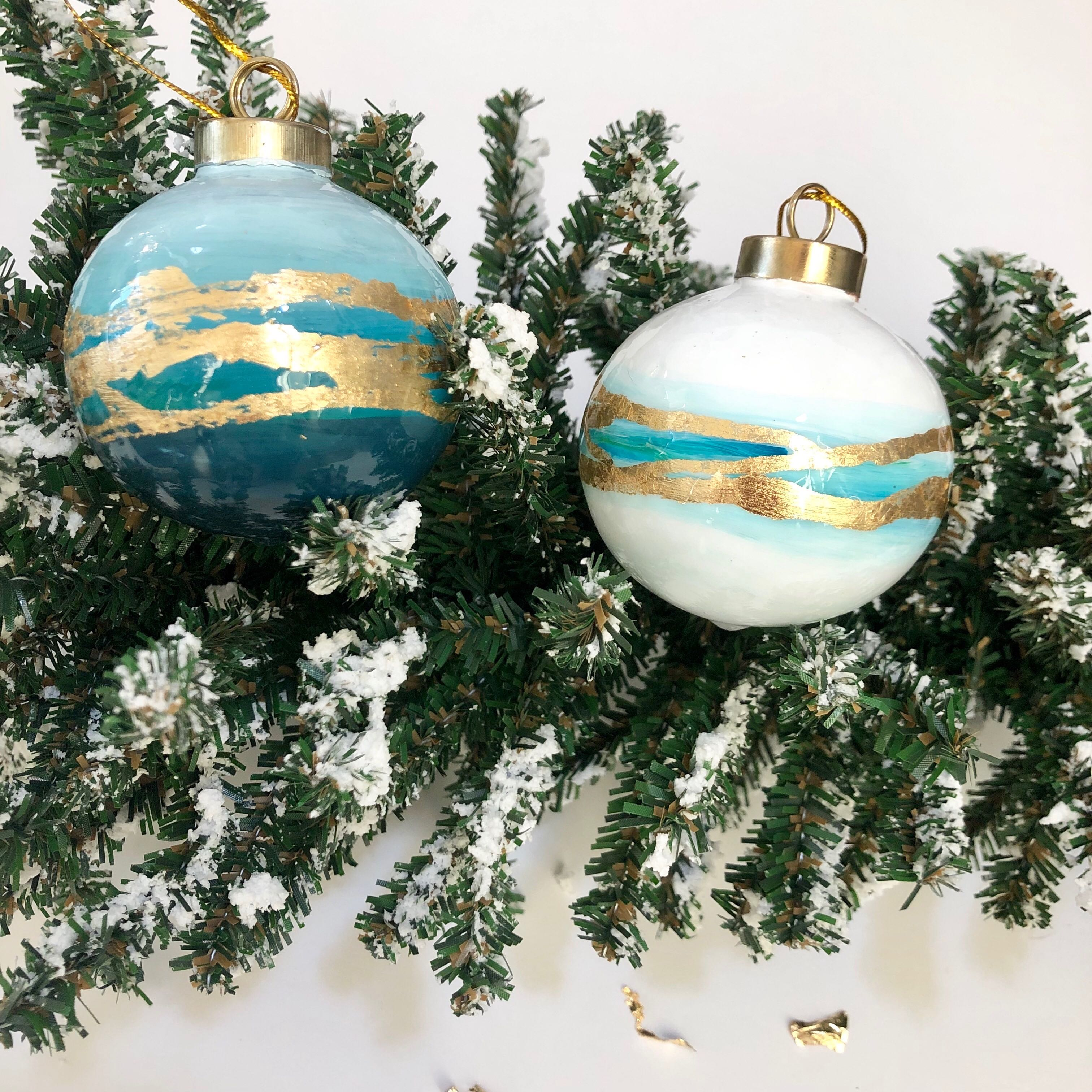 Abstract Gold Leaf Ornaments
