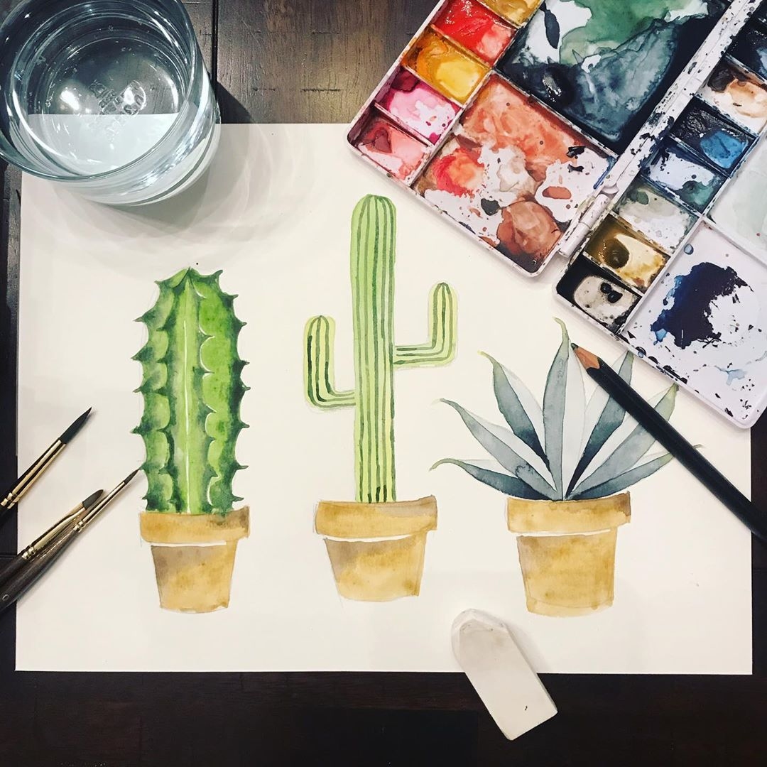 Watercolor Cacti Prints