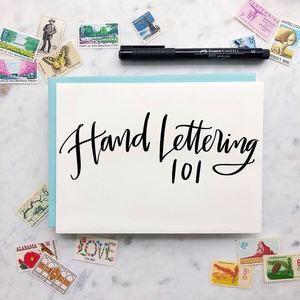 Handlettering Basics