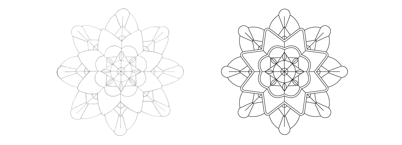 Drawing Geometric Designs: From Hand Sketch to Digital Pattern