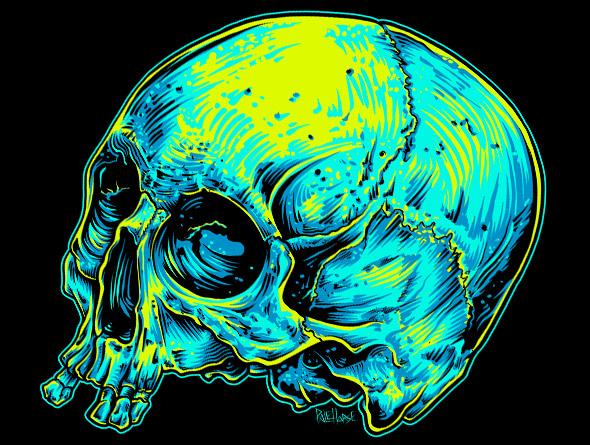 bbf7478b Illustrate A Screen-Printed Skull T-shirt From Photo Reference ...