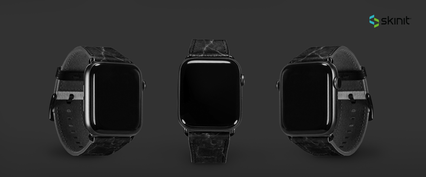 Patterns Black Marble Apple Watch Band 42-44mm 5