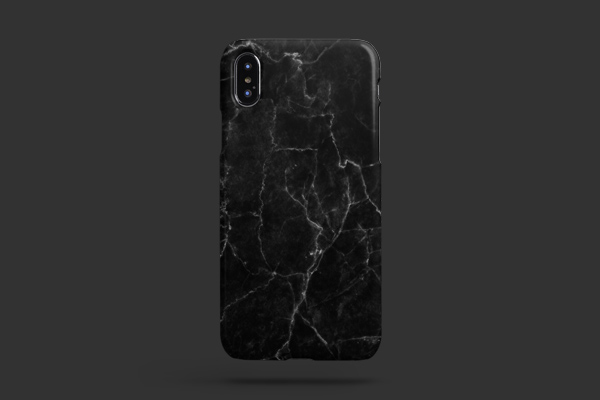 Patterns Black Marble iPhone XS Max Lite Case 2