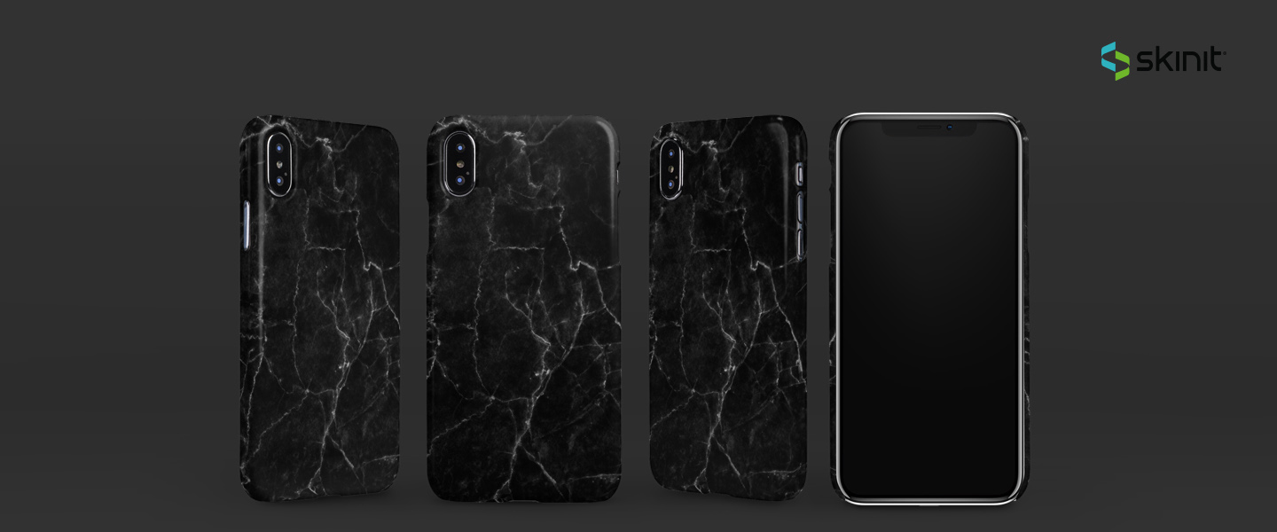 Patterns Black Marble iPhone XS Max Lite Case 5