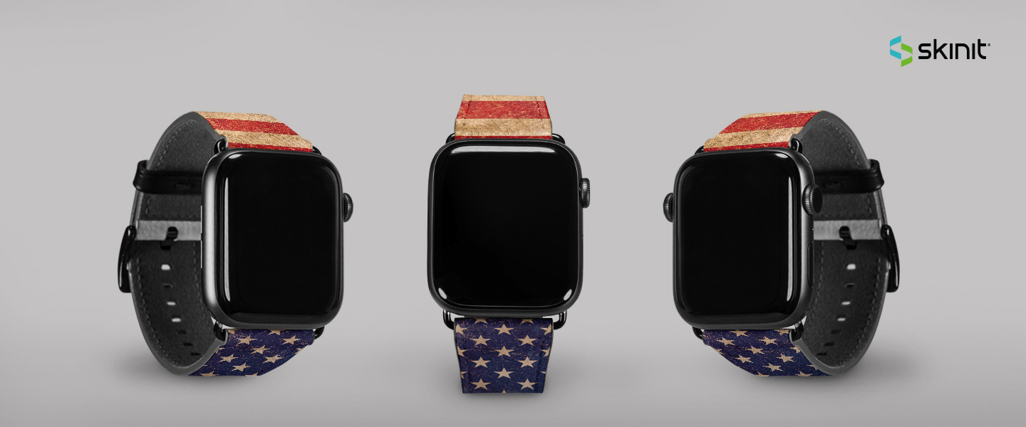 Lifestyle American Flags Apple Watch Band 42-44mm 5