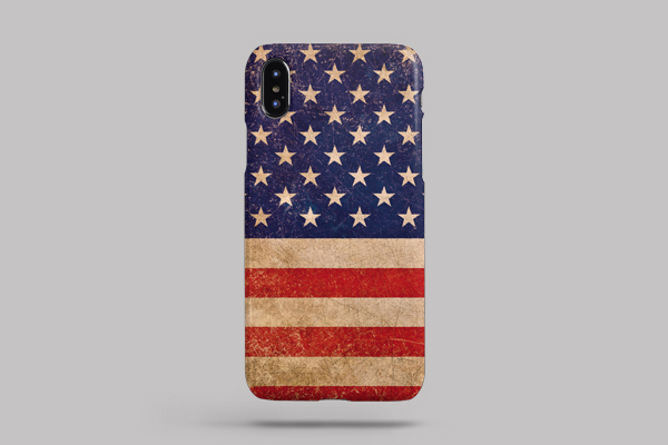 Lifestyle American Flags iPhone XS Max Lite Case 2