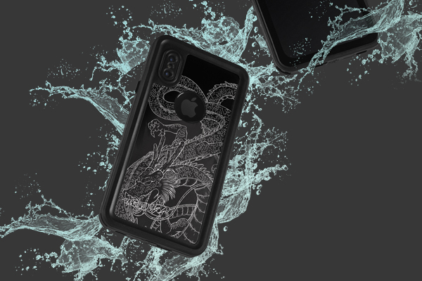 Anime Shenron iPhone XS Waterproof Case 2