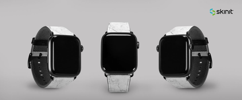 苹果模式的白色大理石表带42-44mm 5