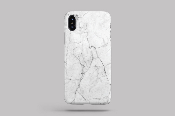 Patterns White Marble iPhone XS Max Lite Case 2