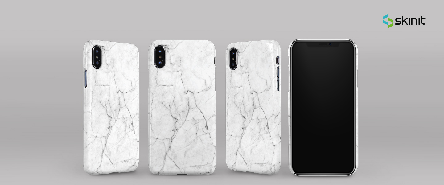 Patterns White Marble iPhone XS Max Lite Case 5