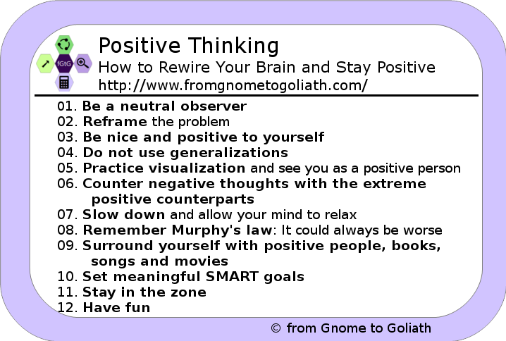 Positive Thinking – How to Rewire Your Brain and Stay Positive ...