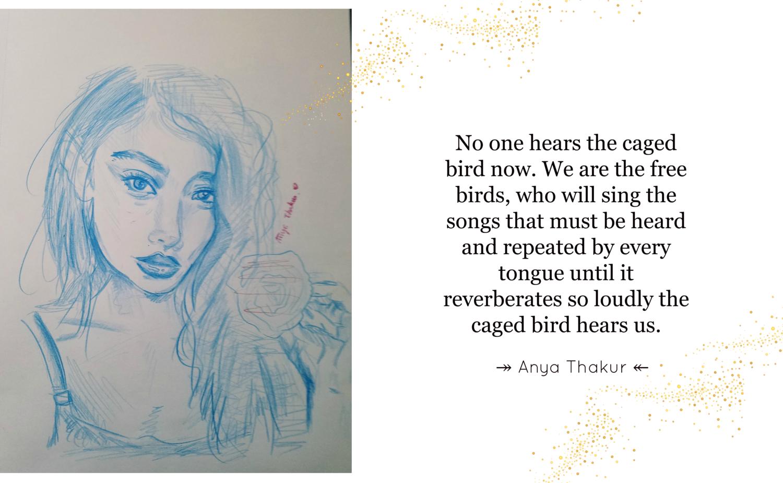 when was caged bird poem written