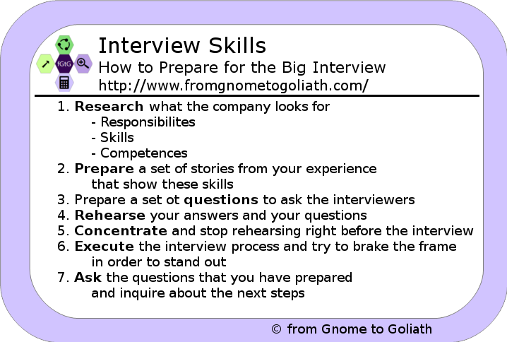 interview skills how to prepare for an interview in 7 steps