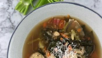 italian chicken meatball soup