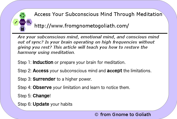 Access Your Subconscious Mind Through Meditation - Thrive Global