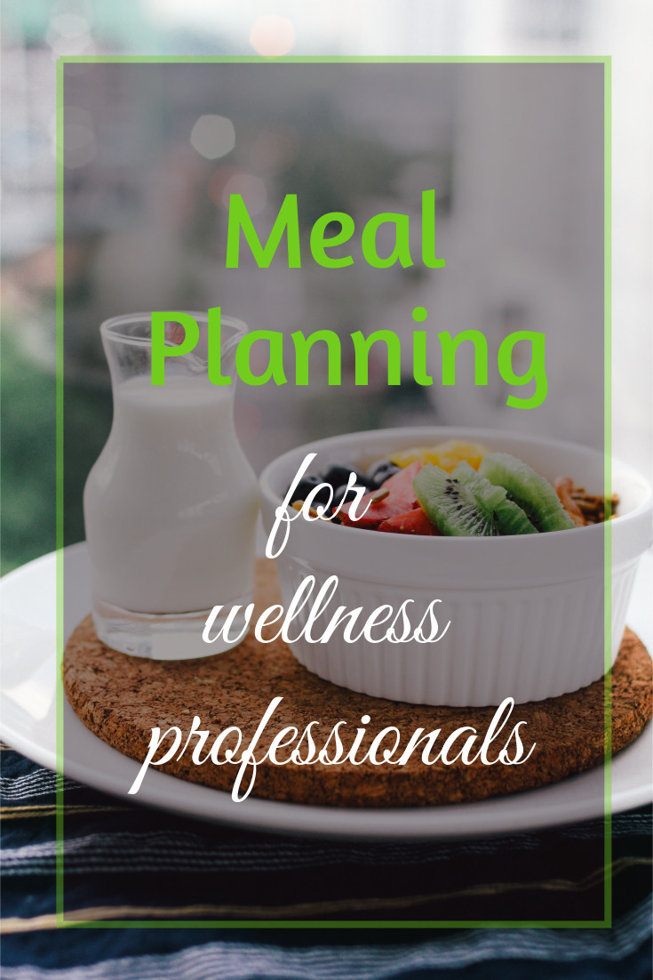 meal planning for health professionals