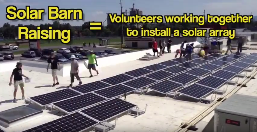 Thrifty Community Solar Barn Raising