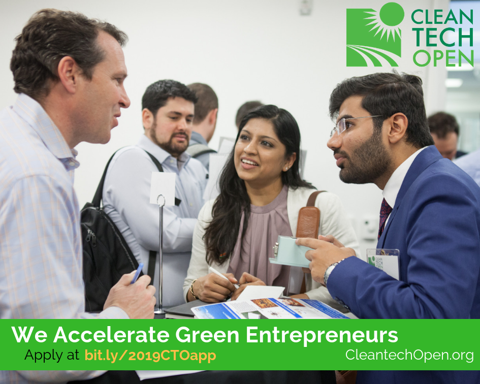 Startup Accelerator and Competition for Promising Cleantech Entrepreneurs Announces May 1 Deadline
