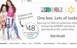 Walmart: con le scatole personalizzate di Kidbox lancia un nuovo format