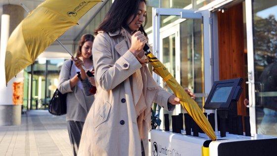 Umbrella sharing nelle stazioni del metrò, un'app per i milanesi distratti