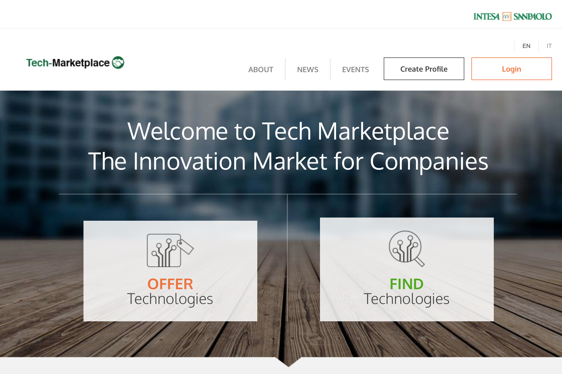 Intesa Sanpaolo Tech-Marketplace