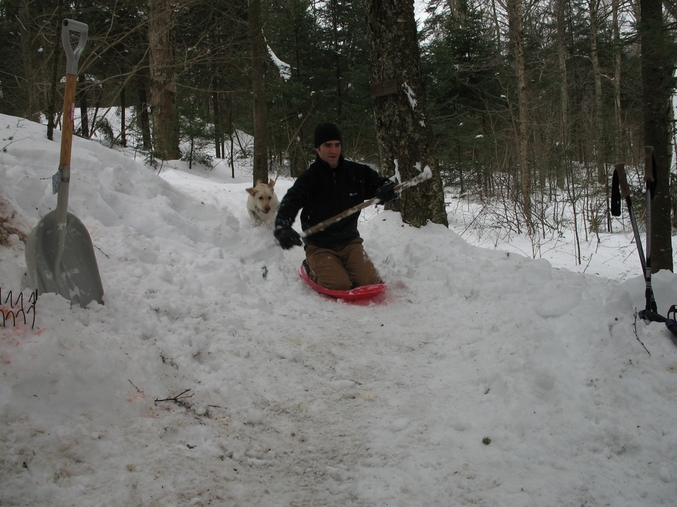 freeridinDan BC sledding
