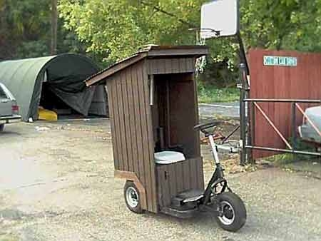 toliet on wheels