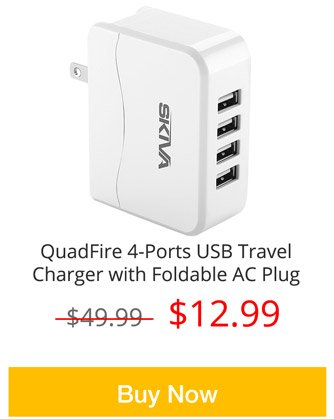 4-Ports USB Travel Charger