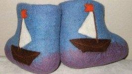 Валеночки детские «Морские корабли»